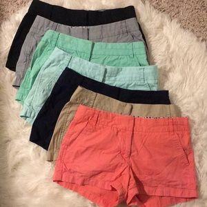 J. Crew Chino Shorts (5 pairs)